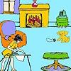 Раскраска: Гостиная Лизы (Lisa at home coloring)