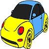 Раскраска: Автомобиль 2 (Little pink car coloring)