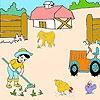 Раскраска: Маленький фермер (Farmer  boy and animals coloring)