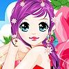 Одевалка: Девушка с пурпурными волосами (Purple haired girl dress up)