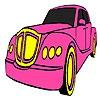 Раскраска: Классика (Classic pink car coloring)