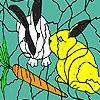 Раскраска: Голодные кролики (Hungry rabbits coloring)