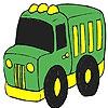Раскраска: Грузовик молочника (Milk truck coloring)