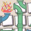 Завихрение труб (Paper Pipe Twist)