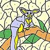 Раскраска: Существо на дереве (Alien on the tree coloring)