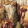 Пазл: Мышка в лесу (Mice in the woods puzzle)