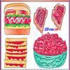 Раскраска: Бутерброды (Food Coloring)