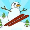 Снеговик лыжник (Snowman skiing)