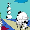 Раскраска: Овечки (Wild Sheep Coloring)