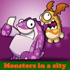 Поиск отличий: Монстры в городе (Monsters in a city)