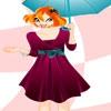 Одевалка: Девушка с зонтиком (Bloom With An Umbrella)