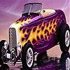 Пятнашки: Фиолетовый авто (Violet fire car slide puzzle)