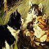 Поиск чисел с котятами (Naughty cats hidden numbers)