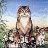 Пятнашки: Усталый котик (Tired cats slide puzzle)