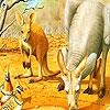 Пазл: Кенгуру (Red kangaroos and birds puzzle)