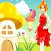 Одевалка: Рядом с домиком-грибом (Gloved Girl And Mushroom Home)