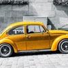 Пазл: Желтый авто (Yellow car jigsaw puzzle)