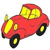 Раскраска: Автомобиль (First red car coloring)