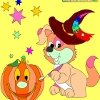 Раскраска: Хеллоуин 2 (Kid's coloring: Happy Halloween 2)