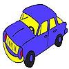 Раскраска: Автомобиль 3 (Blue speedy car coloring)