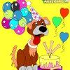 Раскраска: Щенок (Kid's coloring: Happy Puppy)