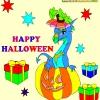 Раскраска: Хеллоуин 6 (Kid's coloring: Happy Halloween 6)