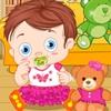 Одевалка: Малыш и мишка (Baby With Teddy Bear)