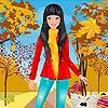 Одевалка: Красивое пальто (Red coat girl dress up)