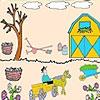 Раскраска: Фермер в саду (Farmer in the garden coloring)