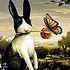 Пазл: Черный зайчик (Black rabbit and friend puzzle)
