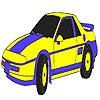 Раскраска: Седан (Blue classic car coloring)