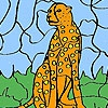 Раскраска: Леопард (Wild leopard coloring)