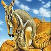 Пятнашки: Кенгуру (Kangaroos in the mountains slide puzzle)