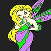 Раскраска: Хрупкая фея (Fragile fairy coloring)