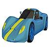 Раскраска: Спорткар 4 (Blue combination car coloring)