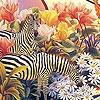Пазл: Зебры в саду (Zebras in the garden puzzle)