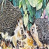 Пазл: Ежики (Hedgehogs at home puzzle)