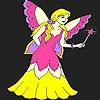 Раскраска: Фея (Lovely fairy coloring)