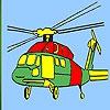 Раскраска: Вертолет (Heavy helicopter coloring)