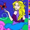Раскраска: Прекрасная принцесса (Paint a beautiful princess)