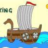 Раскраска: Корабль викингов (Viking ship coloring)