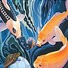 Пятнашки: Друзья в аквариуме (Chatty friends slide puzzle)