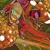 Пазл: Ящерка (Lizard in the garden puzzle)