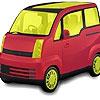 Раскраска: Машина (Yellow glazed car coloring)