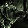 Пятнашки: Черный волк (Black wolf in the woods slide puzzle)