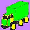 Раскраска: Грузовик (Big cargo car coloring)