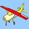 Раскраска: Самолёт (Planet air coloring)