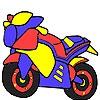 Раскраска: Мотоцикл (Hot ready motorbike coloring)