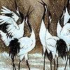 Пятнашки: Зима и аисты (Winter and storks slide puzzle)