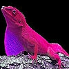 Пятнашки: Розовая ящерка (Pink hungry lizard slide puzzle)